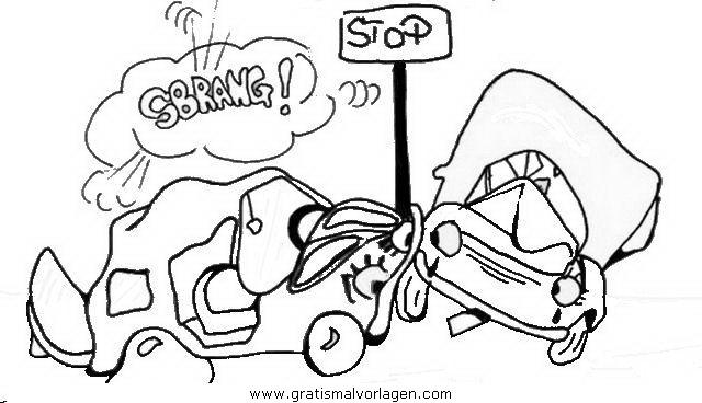 Unfall 0 Gratis Malvorlage In Autos Transportmittel Ausmalen