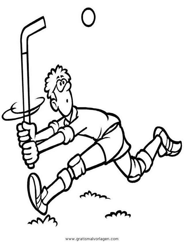 Unihockey 4 gratis Malvorlage in Sport, Verschiedene Sportarten ...