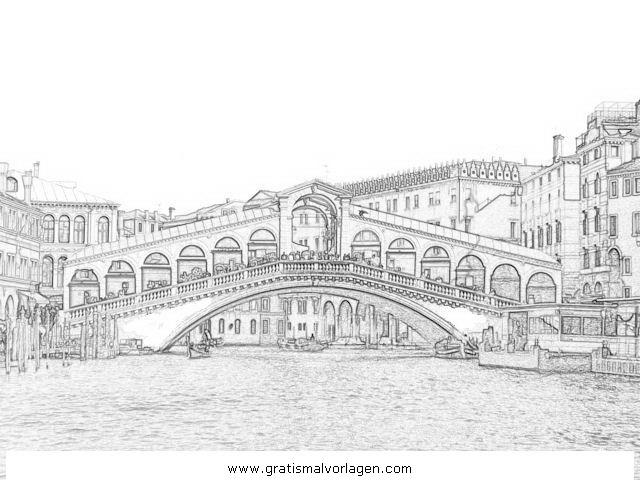 Venedig 6 Gratis Malvorlage In Diverse Malvorlagen Landschaft