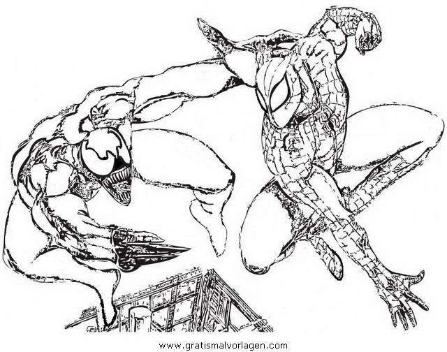 Venom Gratis Malvorlage In Comic Trickfilmfiguren Venom Ausmalen