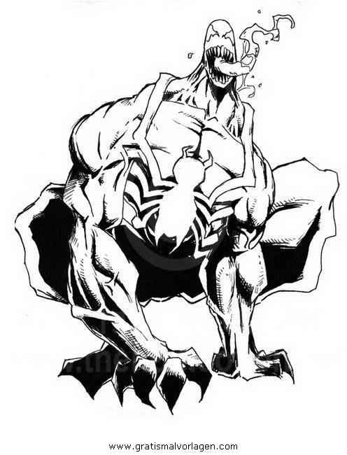 Venom Malvorlagen Zum Ausmalen Für Kinder