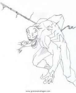 Venom 04 Gratis Malvorlage In Comic Trickfilmfiguren Venom Ausmalen