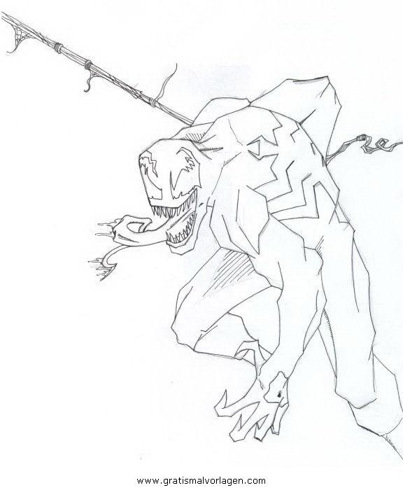 venom 04 gratis malvorlage in comic  trickfilmfiguren