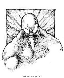 Malvorlage Venom venom 07