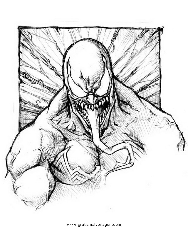 venom 07 gratis Malvorlage in Comic Trickfilmfiguren