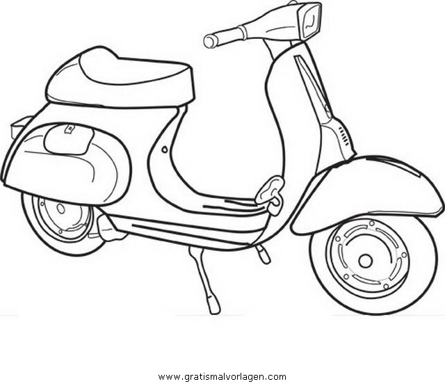vespa 13 gratis malvorlage in motorrad transportmittel. Black Bedroom Furniture Sets. Home Design Ideas