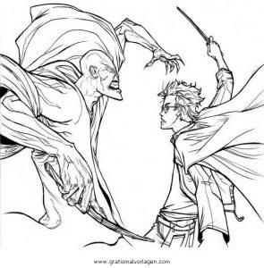 Voldemort 3 Gratis Malvorlage In Comic Trickfilmfiguren Harry