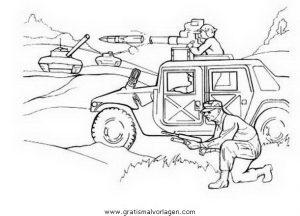 Waffen Krieger 37 Gratis Malvorlage In Menschen Soldat Ausmalen