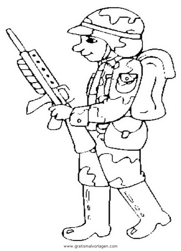 waffen krieger 47 gratis malvorlage in menschen soldat