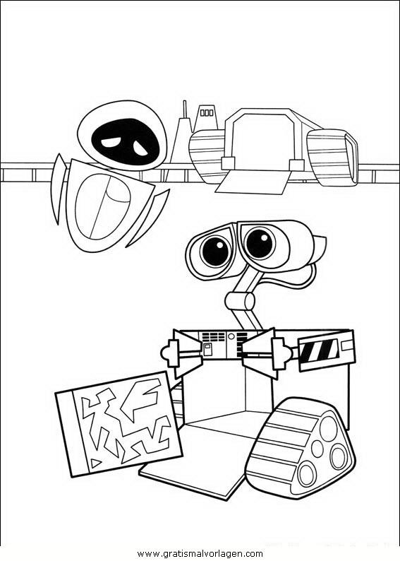wall e 22 gratis malvorlage in comic  trickfilmfiguren