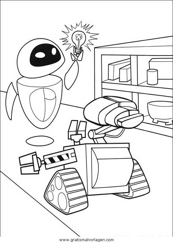 wall e 26 gratis malvorlage in comic  trickfilmfiguren