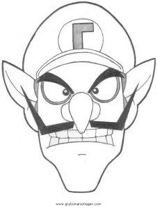 Waluigi 4 Gratis Malvorlage In Comic Trickfilmfiguren Mario