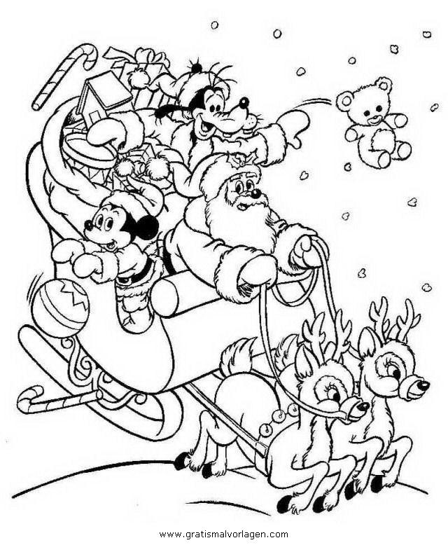 Weihnachtsphoto Disney Malvorlagen zum Ausmalen für Kinder -