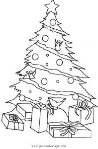 weihnachtsbilder zum ausmalen tannenbaum - vorlagen zum ausmalen gratis ausdrucken