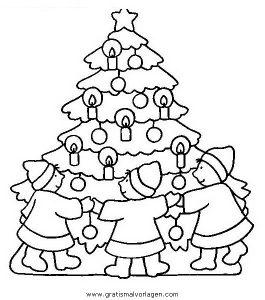 Malvorlage Weihnachtsbäume weihnachtsbaume 66