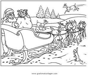 Weihnachtsmanner Schlitten 17 Gratis Malvorlage In Weihnachten