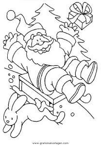 Malvorlage Weihnachtsmänner Schlitten weihnachtsmanner schlitten 53
