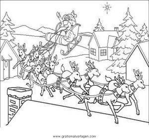 Weihnachtsmanner Schlitten 55 Gratis Malvorlage In Weihnachten