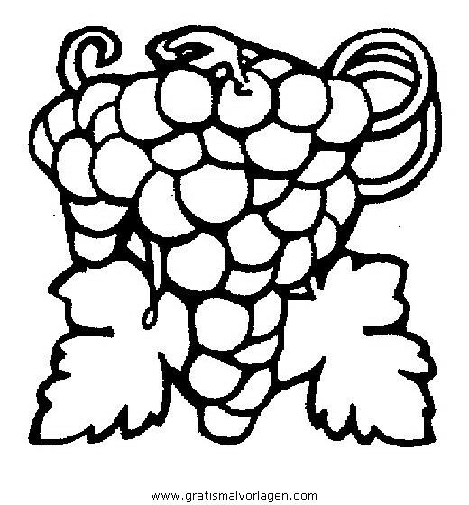 weintrauben 8 gratis Malvorlage in Essen & Trinken, Früchte - ausmalen