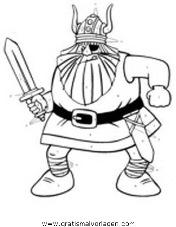 wickie 03 gratis malvorlage in comic & trickfilmfiguren