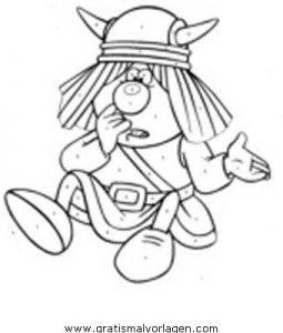Wickie 08 Gratis Malvorlage In Comic Trickfilmfiguren Wickie