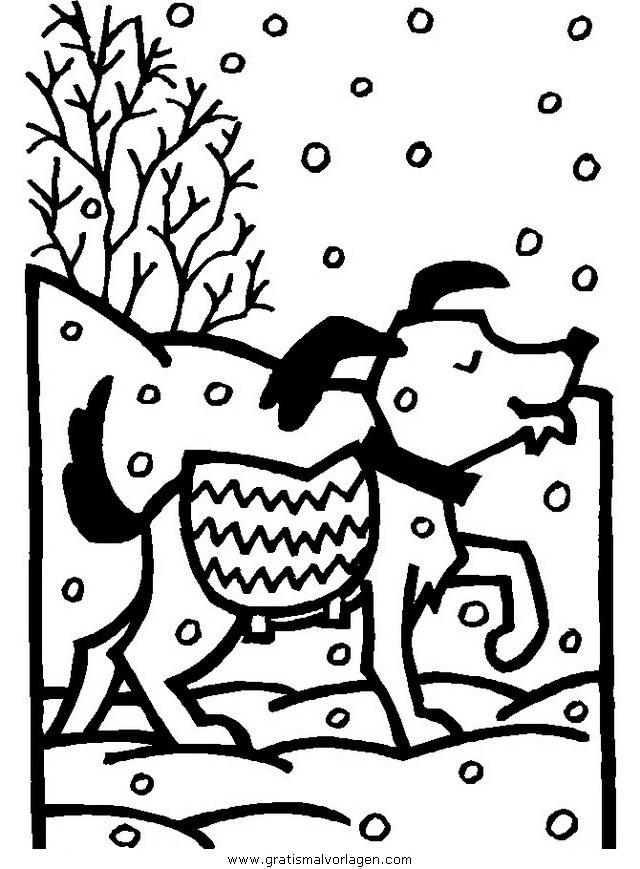 winter 16 gratis malvorlage in natur winter  ausmalen