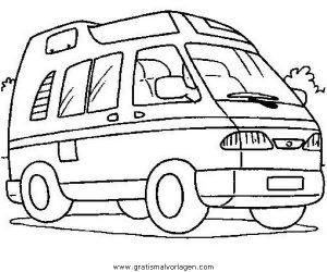 wohnmobil 05 gratis malvorlage in lastwagen, transportmittel - ausmalen