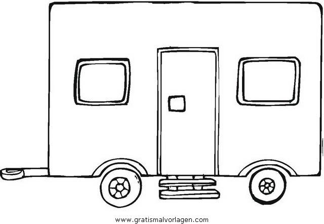 Wohnwagen 4 Gratis Malvorlage In Lastwagen Transportmittel Ausmalen