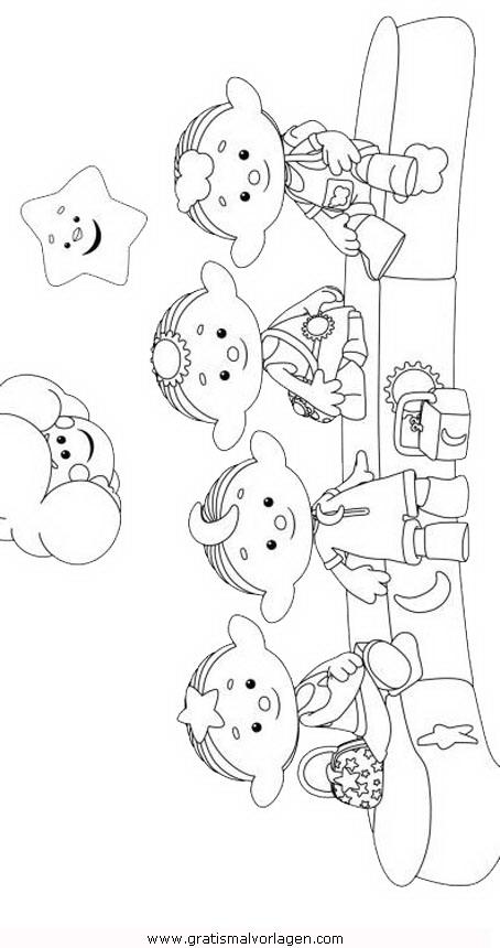 Wolkenkinder 2 Gratis Malvorlage In Comic Trickfilmfiguren