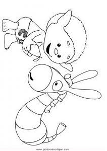 Wolkenkinder 4 Gratis Malvorlage In Comic Trickfilmfiguren