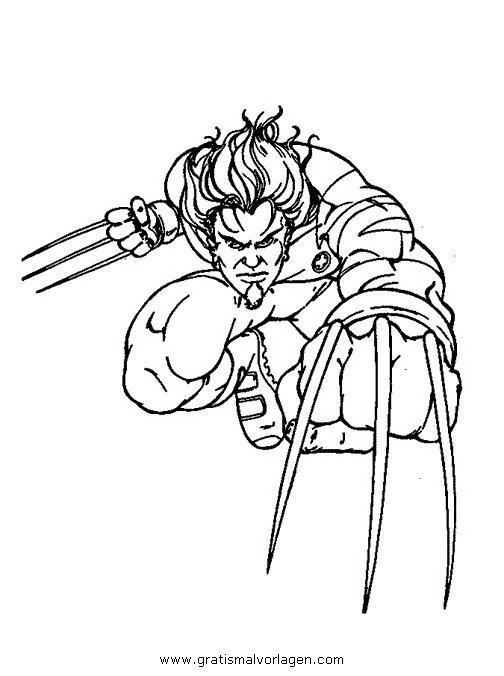 wolverine 01 gratis malvorlage in comic  trickfilmfiguren