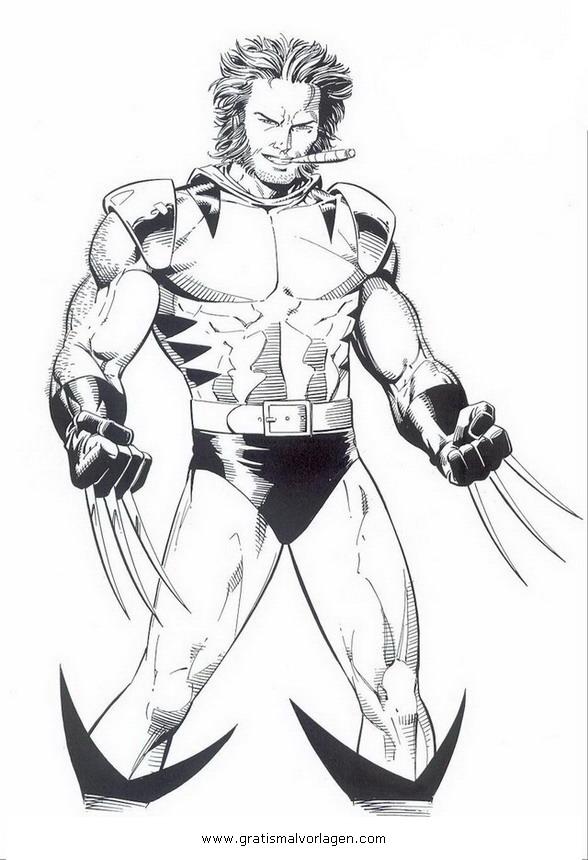 Marvel Deadpool Ausmalbilder Gratis: Wolverine 02 Gratis Malvorlage In Comic & Trickfilmfiguren