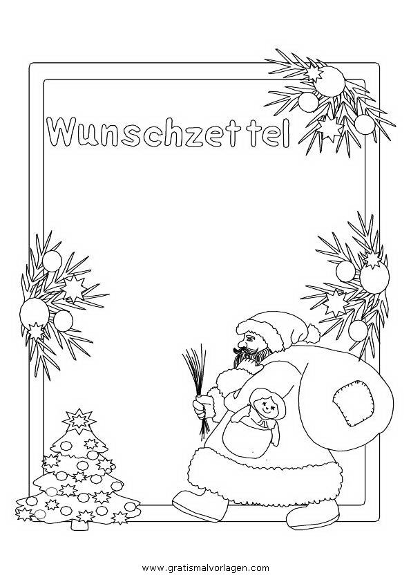 wunschzettel weihnachtsmann