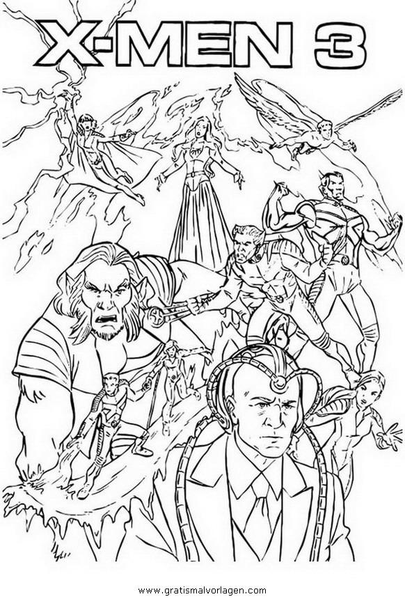 xmen 01 gratis Malvorlage in Comic & Trickfilmfiguren, X-Men - ausmalen