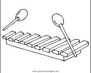 Xylophon Gratis Malvorlage In Diverse Malvorlagen Musik Ausmalen