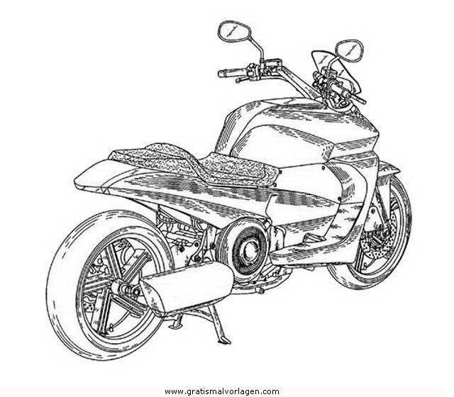Yamaha 10 Gratis Malvorlage In Motorrad