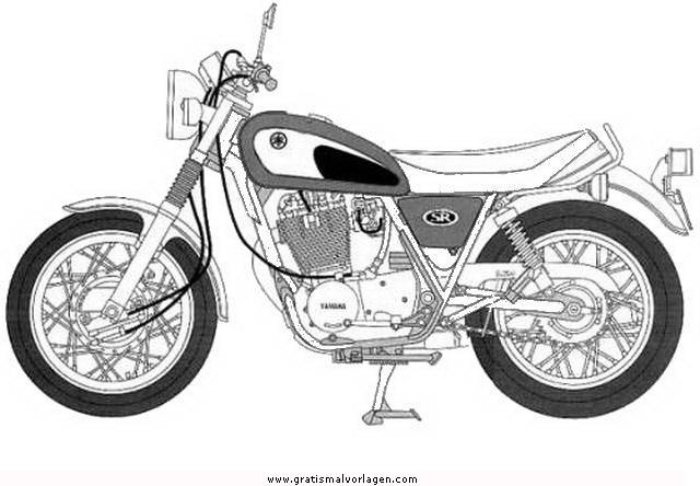 Yamaha 11 Gratis Malvorlage In Motorrad