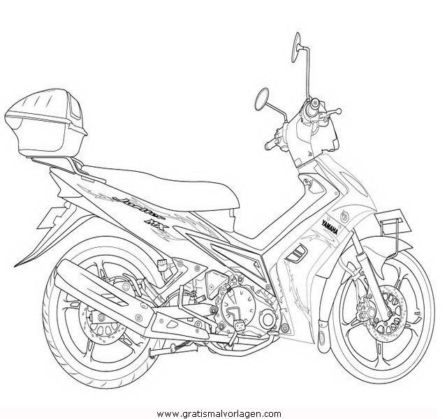 yamaha 12 gratis malvorlage in motorrad transportmittel