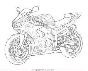 Yamaha 14 Gratis Malvorlage In Motorrad Transportmittel Ausmalen