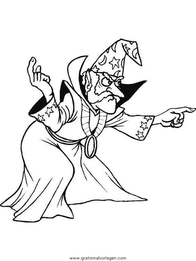 zauberer 12 gratis malvorlage in fantasie zauberer  ausmalen