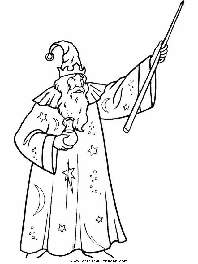 zauberer 14 gratis malvorlage in fantasie zauberer  ausmalen