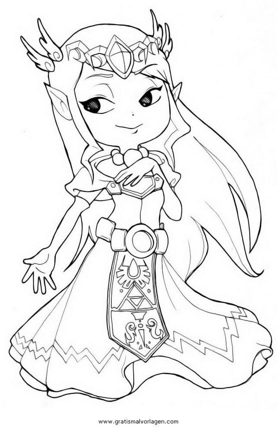 Zelda 22 Gratis Malvorlage In Comic Amp Trickfilmfiguren