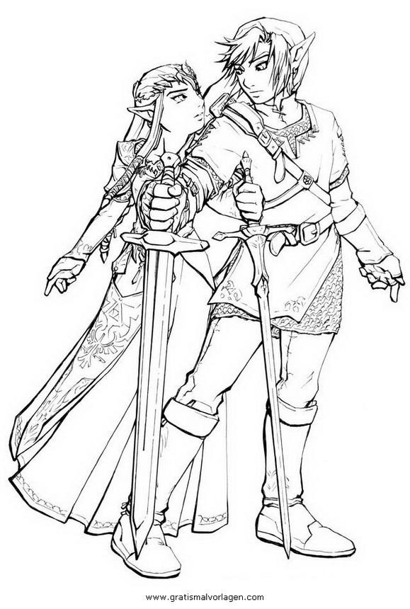 Zelda 28 Gratis Malvorlage In Comic Amp Trickfilmfiguren