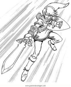 Zelda Link 5 Gratis Malvorlage In Comic Trickfilmfiguren Zelda