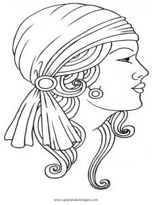 Zigeuner 11 Gratis Malvorlage In Mädchen Menschen Ausmalen
