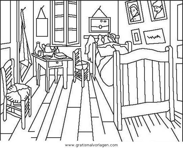 Zimmer Wohnung 2 Gratis Malvorlage In Betten Diverse Malvorlagen