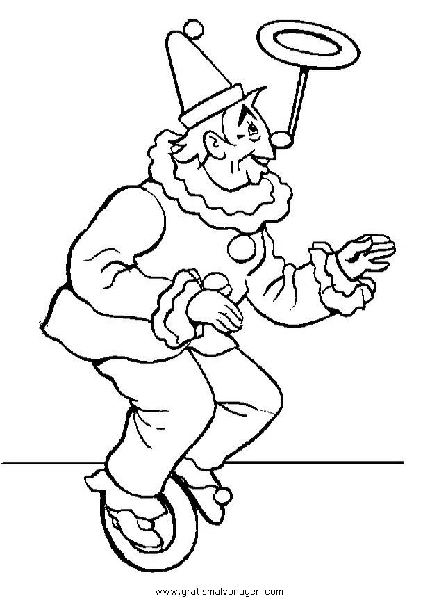 zirkus ausmalbilder jongleur  malvorlagen gratis