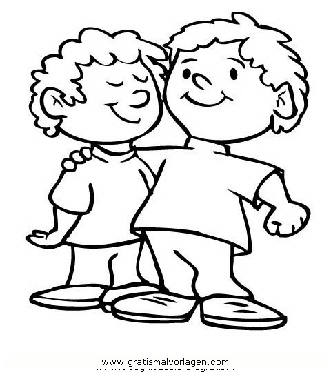 zwillinge 2 gratis malvorlage in kinder menschen  ausmalen