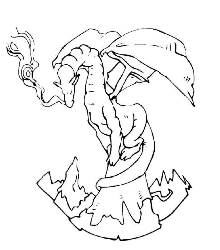 drachen00314 gratis malvorlage in drachen tiere  ausmalen
