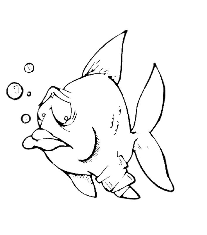 fische00297 gratis malvorlage in fische tiere  ausmalen